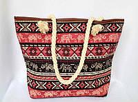 Пляжная текстильная летняя сумка для пляжа и прогулок Этника