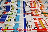 """Ткань хлопковая  """"Все виды транспорта"""", разноцветная (№ 721а), фото 2"""