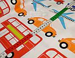 """Ткань хлопковая  """"Все виды транспорта"""", разноцветная (№ 721а), фото 3"""