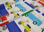 """Ткань хлопковая  """"Все виды транспорта"""", разноцветная (№ 721а), фото 4"""