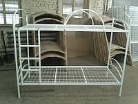 Двухъярусная металическая кровать  из труб