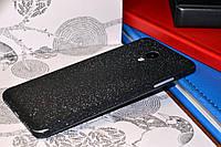 """Виниловая наклейка """"Чёрная алмазная крошка"""" Meizu M3S (задняя часть) 0,11 mm"""