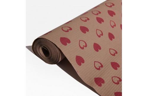 Крафт-бумага в гармошку (гофре) подарочная в рулонах