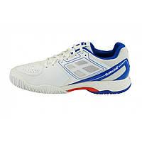 Кроссовки для тенниса Babolat Pulsion All Court M Белый/Синий, 36