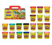 Набор Плей До 20 баночек пластилина Play Doh Hasbro, фото 1