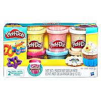 Плей До  6 баночек пластилина с конфетти Play Doh Hasbro