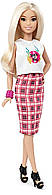 Кукла Барби оригинальная модница, Barbie Fashionistas Rock 'N' Roll Plaid - Petite