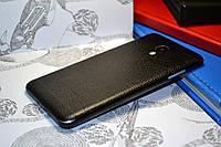 """Виниловая наклейка """"Чёрная кожа"""" Meizu M3S (задняя часть) 0,17 mm"""