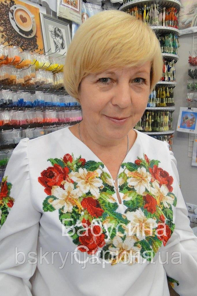 Заготовка жіночої сорочки для вишивки нитками/бісером БС-2