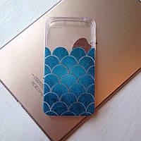 Дизайнерский силиконовый чехол с чешуёй для iPhone 5/5s/se
