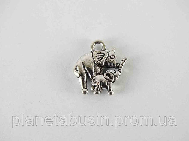 Подвеска Слон и слоненок, размер 14х12 мм, фото 2