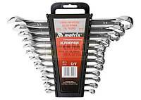 Набор ключей комбинированных -CRV15 шт.мат, пласт упак (СТАЛЬ)