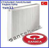 Стальные панельные радиаторы Sanica тип 11 300х400