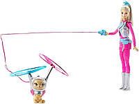 Кукла Barbie с летающим котом Попкорном Star Light Adventure