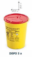 Контейнеры для сбора иголок и медицинских отходов, 3 л. (c РР)