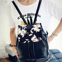 Женский рюкзак с цветами