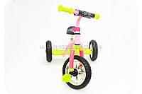 Велосипед детский трёхколёсный «Bambi» 0688-2 желто-розовый