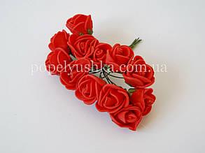 Троянди латексові червоні 2 см