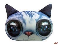Антистресс Кот глазастый серый мягкая игрушка Danko toys