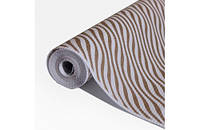 Крафт-папір Гофре (в гармошку) подарункова Золоті хвилі на білому фоні 10 м/рулон