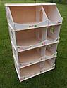 Кукольный домик-шкаф с росписью (белый), фото 3