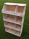 Кукольный домик-шкаф с росписью (белый), фото 4