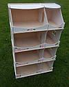 Кукольный домик-шкаф с росписью (белый), фото 5