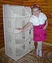 Кукольный домик-шкаф с росписью (белый), фото 6