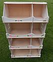 Кукольный домик-шкаф с росписью (белый), фото 8