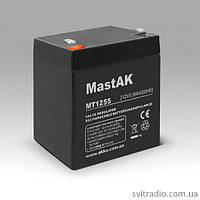 Аккумулятор MastAK MT1255 (Мастак MT 1255) 12V 5.5Ah