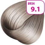 Стойкая СС крем-краска для волос KRASA с маслом амлы и аргинином тон 9.1 Очень светлый блондин пепельный