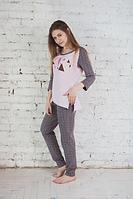 Пижама женская сердечки, фото 1