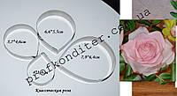 Металлическая вырубка Класическая роза
