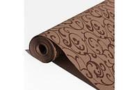 Крафт-бумага Гофре (в гармошку) подарочная Шоколадный серпантин на крафте 10 м/рулон
