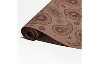 Крафт-бумага Гофре (в гармошку) подарочная Шоколадные узоры на крафте 10 м/рулон