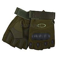 Перчатки тактические OAKLEY беспалые олива