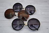Очки солнцезащитные женские  круглые большие