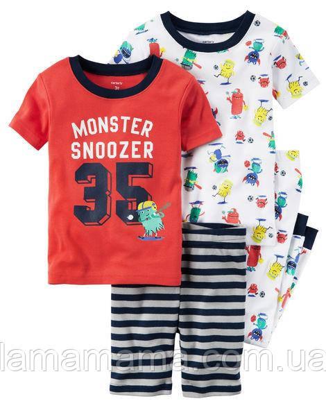 Набор хлопковых пижам Сонька Картерс 4-Piece Snug Fit Cotton PJs 2Т (88-93 см; 13-14 кг)