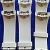 Ремешок для смарт часов Samsung Gear S2 размер L и S. ОРИГИНАЛ белый