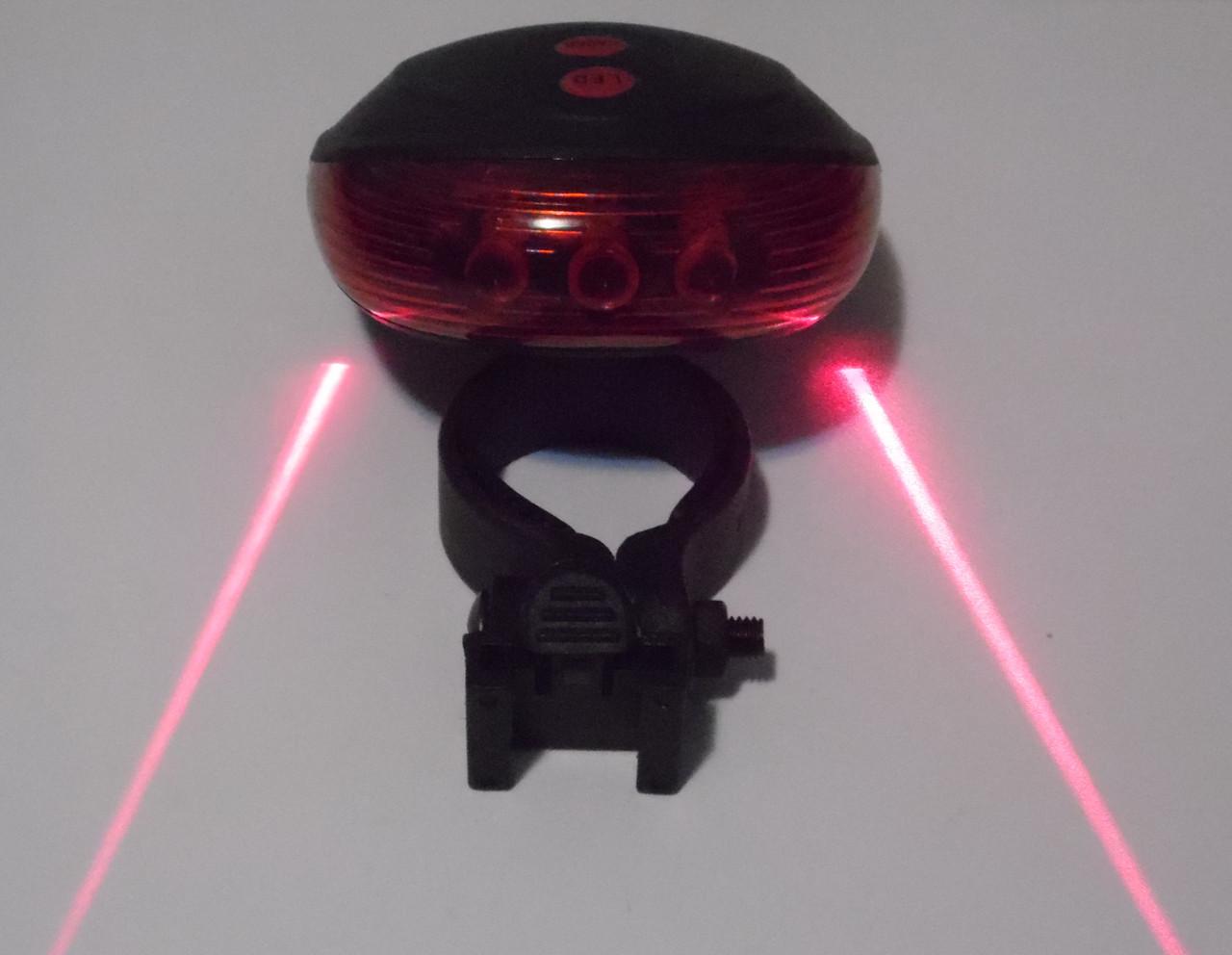 Вело ліхтар з лазерної доріжкою, миготливий задній стоп з лазером