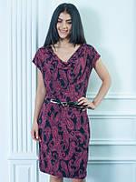 Женское легкое платье Оливия вишня