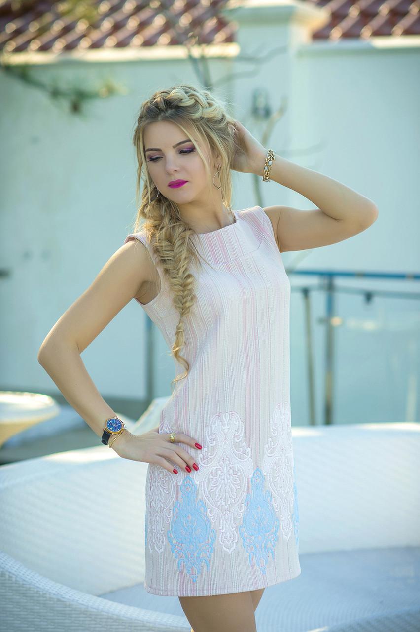 Нарядное летнее Платье Гортензия пудра