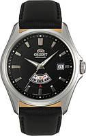 Мужские наручные часы Orient FFN02005BH с кожаным ремешком механические