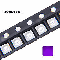 LED UV ультрафиолетовый светодиод 5шт 300mcd 3528 1210 3.2*2.8*1.9 диоды