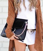 Женская сумка в стиле CHLOE FAYE SHOLDER BAG BLACK (2101), фото 1