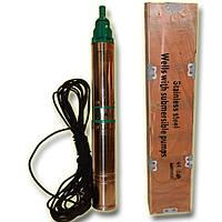 Погружной глубинный насос для скважин центробежный 100 QJD 2-42/7-0,37 HydraWorld