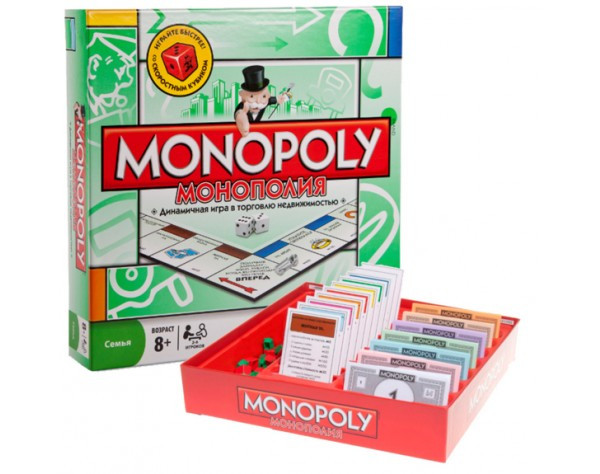 Монополия (Monopoly) копия, Китай. Настольная игра на русском языке 6123