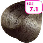 Стойкая СС крем-краска для волос KRASA с маслом амлы и аргинином тон 7.1 Блондин пепельный