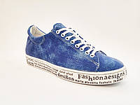 Женские модные синие кроссовки, кеды эко-кожа In-Trend