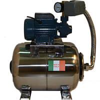 Насосная станция на базе насоса QB60/PKM60 H.World на баке 24 л. Италия, нержавейка